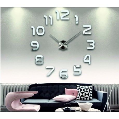 Wall clock for every wall - LAZARE Model  12S002-SILVER-S-COLOR** Condition  New Choose a color by yourself! The time has come much more cozy realít new clock. 3D large wall clock is a beautiful decoration of your interior. You'll never be late.