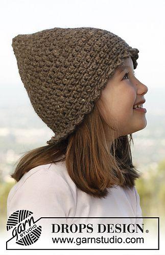 Drops Miss Fairy crochet pixie hat pattern