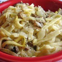Polish Noodles and Sauerkraut Recipe - Kluski z Kwasna Kapusta