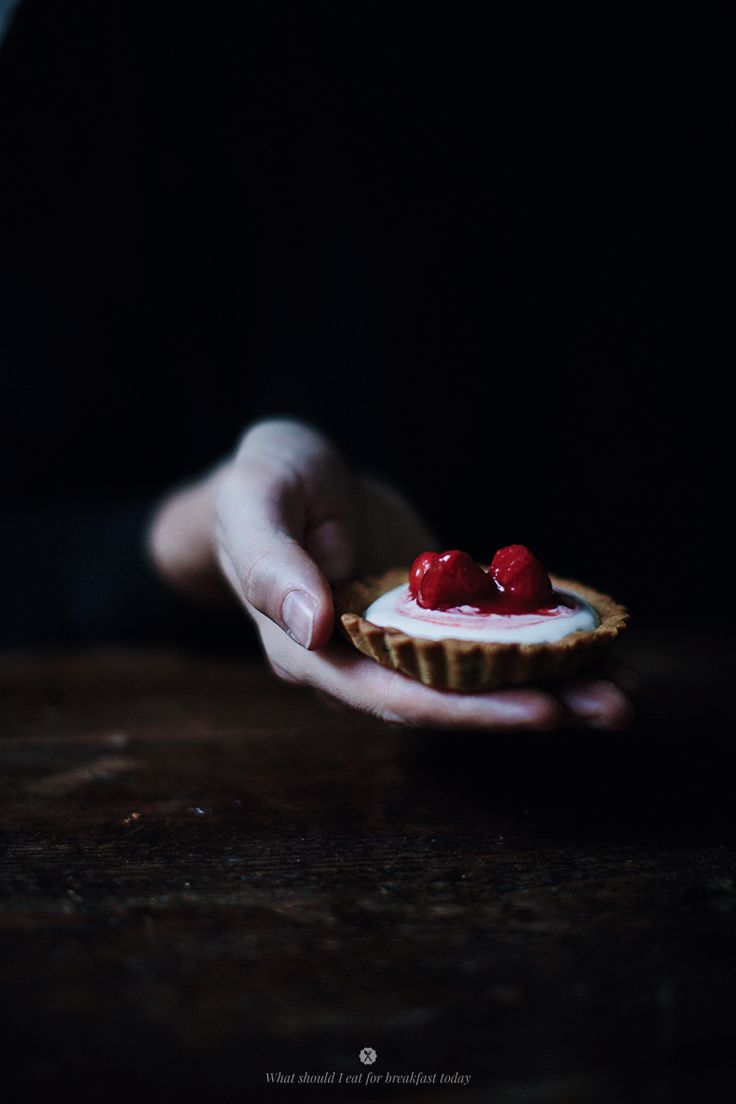 ... almond tart with strawberry and lemon compote ...