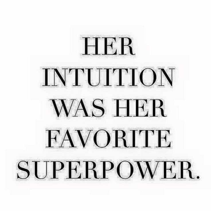 Mean #Business - Trust your intuition...it is your super power.