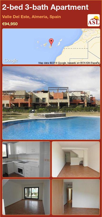 2-bed 3-bath Apartment in Valle Del Este, Almeria, Spain ►€94,950 #PropertyForSaleInSpain
