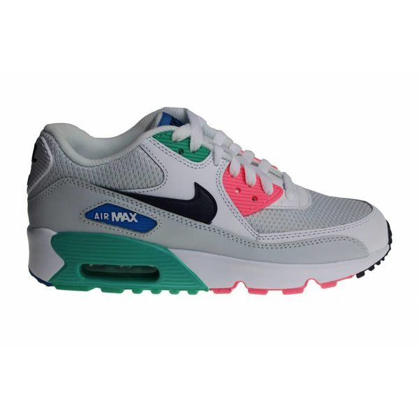 nike air max 90 mesh gs schoenen wit