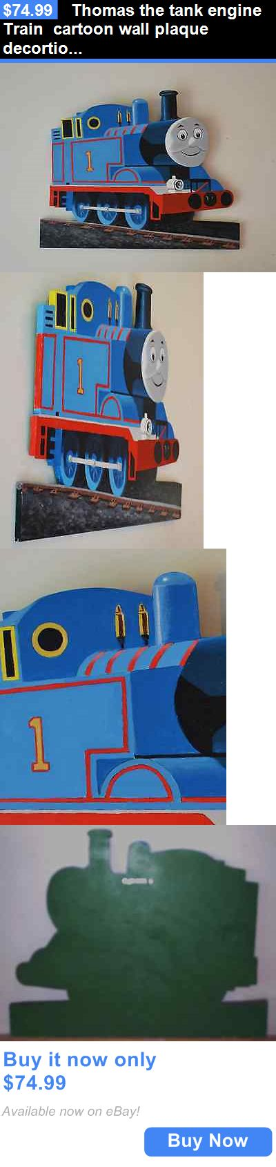 Home Decor: Thomas The Tank Engine Train Cartoon Wall Plaque Decortion BUY IT NOW ONLY: $74.99