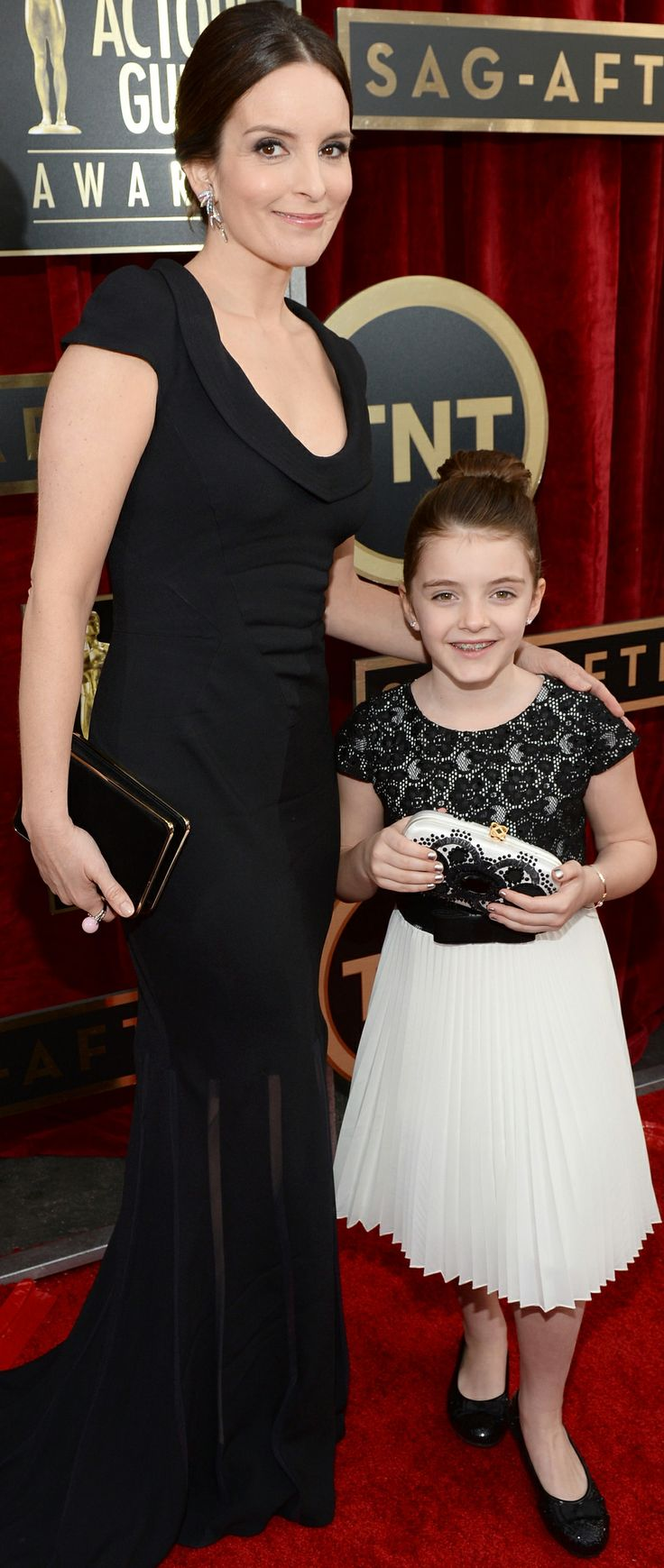 Tina Fey and her daughter Alice walked the SAG Awards red carpet together.