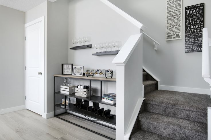 Creative use of space in Creations by Shane Homes Arbor Duplex Showhome in Legacy in southeast Calgary