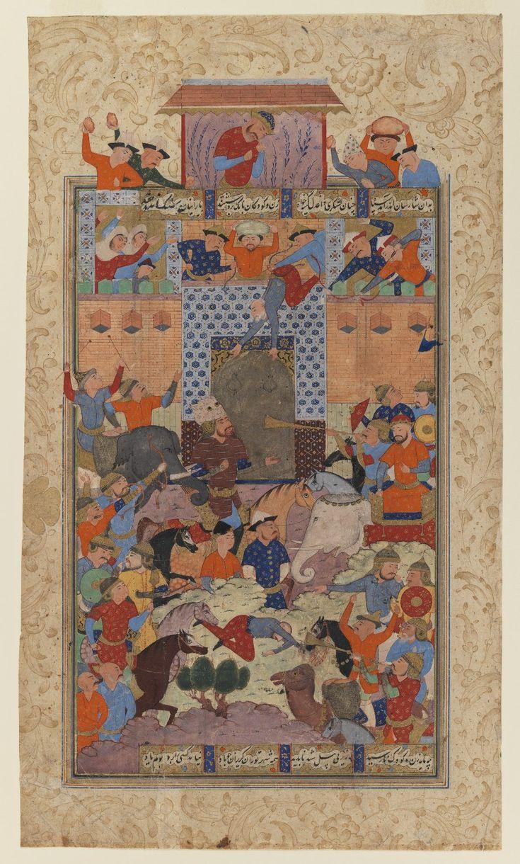 The Iranians Capture Afrasiyab's Fortress