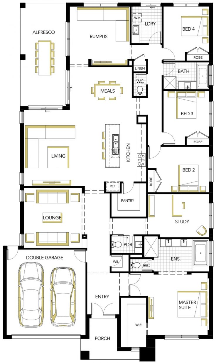 Matisse by Carlisle Homes - New Contemporary home design 4 beds 2.50 baths 2 car garage up to 35.00 squares