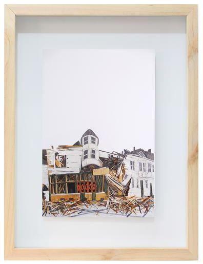 """The Fall of Realism"" Madera y grafito sobre papel 73 x 59 x 6 cm. 2014 #art #artist #sergiozapata #arteplastico"