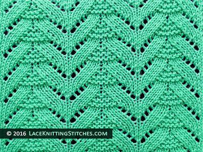 Popular lace knitting pattern - 22 -
