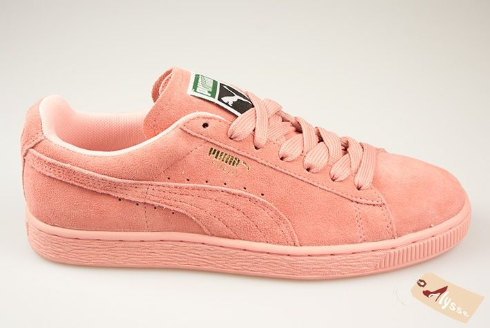 puma suede mono iced rose sneakers