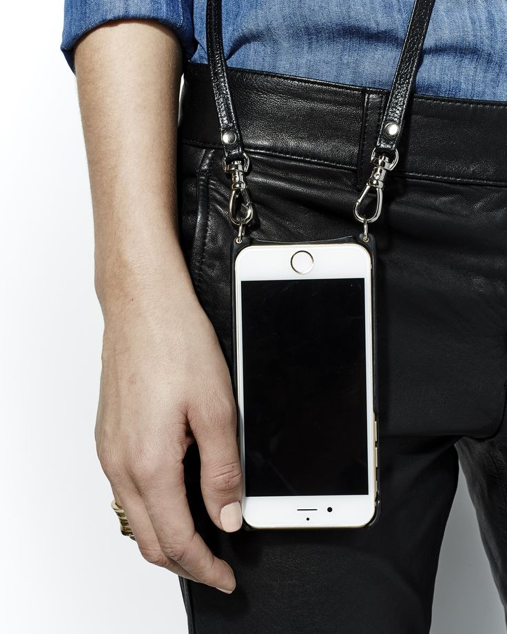 Bandolier iphone 6 case with strap leather phone case