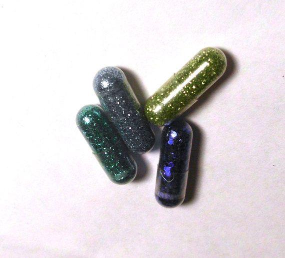 Glitter Pills Glitter Pill 4 Pills Blue Green by GustavosGoods
