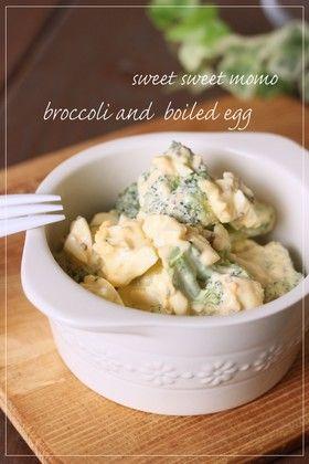 ブロッコリーとゆで卵のからしマヨサラダ by momoseb [クックパッド ...