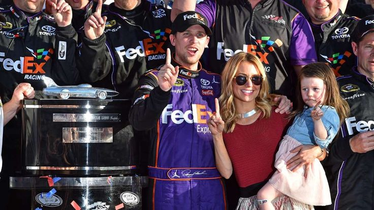 Top 40 Daytona 500 performers of all time:     Denny Hamlin:    Last year, Hamlin won his first Daytona 500 after finishing fourth in 2015 and second in 2014. Hamlin also won the Advance Auto Parts Clash as a rookie in 2006 and then again in 2014 and '16. He also has won his Can‐Am Duel qualifying race twice.