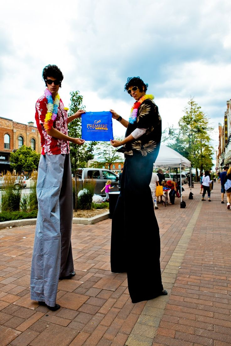 Couple of Hound Dogs styling the Premiere's Green is Blue Bag at the annual Collingwood Elvis Festival....