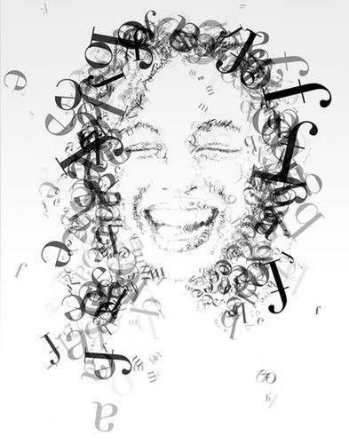 Beste Beispiele für typographische Portraits