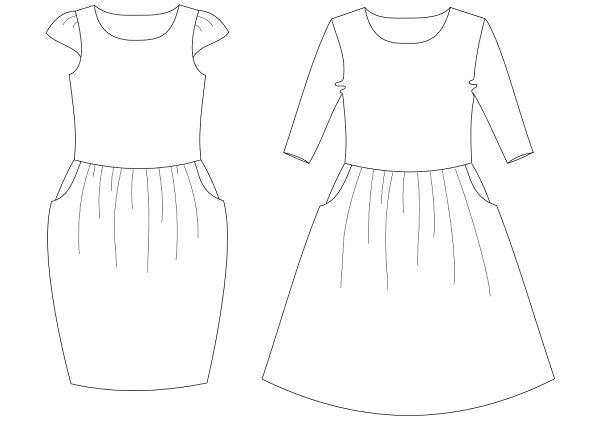 Sari ja Paula mekot Kaava-arkilla koot 32 – 52 Arkilla kaksi erilaista yläosaa, kaksi erilaista helmaa ja kolmet erilaiset hihat, joista voi kasata haluamansa näköisen mekon, mekon voi toteuttaa myös hihattomana Mekkojen kankaaksi suosittelemme ohutta, laskeutuvaa trikoota, esim digipainettua puuvilla-elastaania Kaavat on tarkoitettu yksityiskäyttöön
