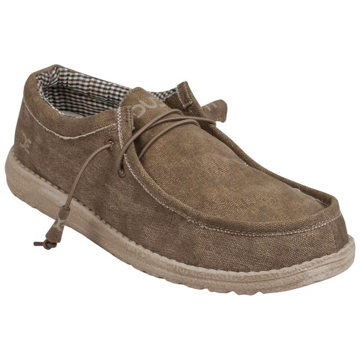 Shop Hey Dude Wally Shoes for Men available in Nut Canvas at