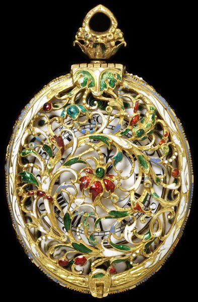 Watch And Pair Case Made Of Gold With 'Ronde Bosse' Enamel And Later Silver - England, Great Britain  c.1625-1640