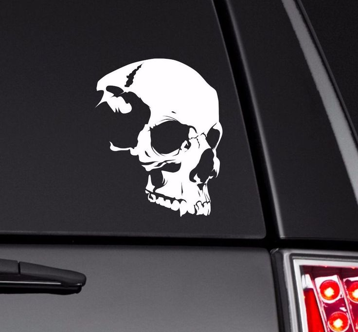 Skull vinyl decal sticker for macbook ipad tablet laptop car truck motorcycle