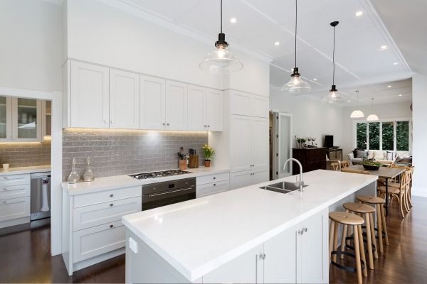 It's not fussy - the designer calls it a 'plain English' kitchen - but it's the perfect match for a villa.