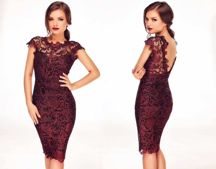 Midi lace dress in shades of seductivered. #lacedress #redlacedress #reddress #sexydress #weddingdress