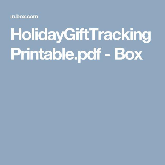 HolidayGiftTrackingPrintable.pdf - Box