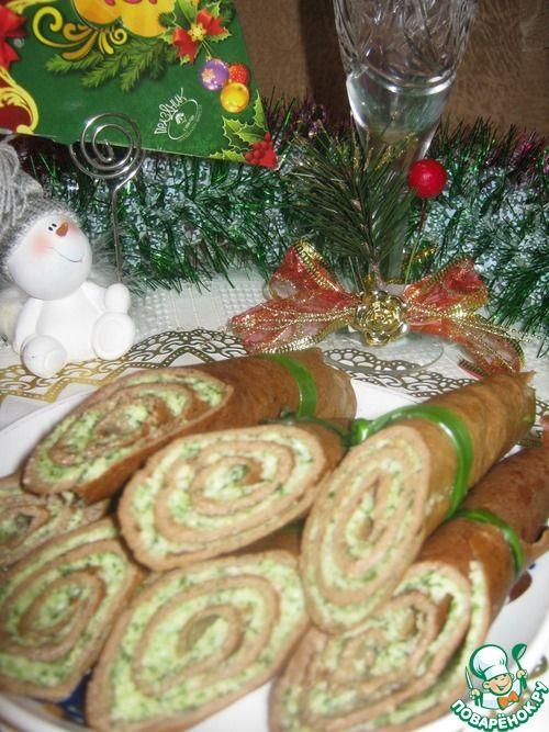 Рулетики из печени с начинкой - кулинарный рецепт
