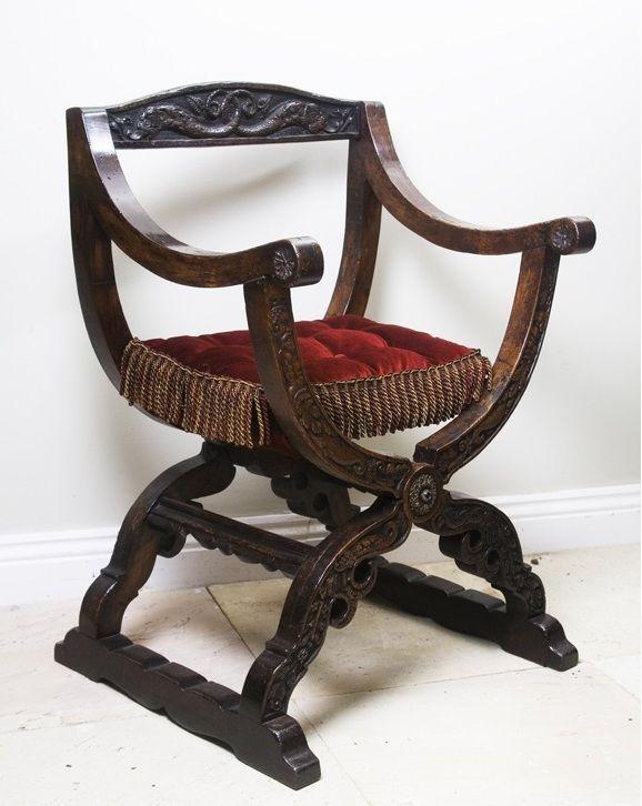 Rare English Elizabethan Walnut Chair