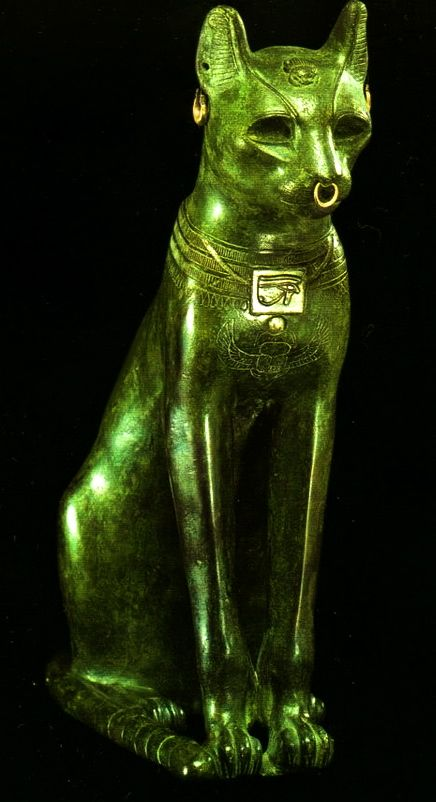 "The Gayer-Anderson Cat"" is an Ancient Egyptian statue of a cat made out of bronze, f664-332 BC. the British Museum.The statue is a representation of the cat-goddess Bastet."