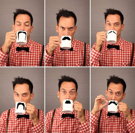 As part of the london design week 09 Peter Bruegger presented his moustache mugs   at designersblock. The fine bone china mugs are available in six different iconic tache styles.
