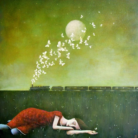 Dreaming Under The Moth Moon #acrylic #paint #art