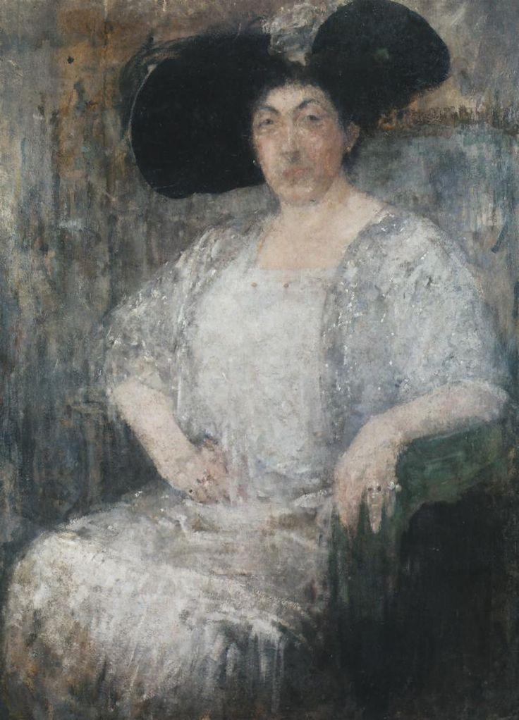 """Olga Boznańska """"Portret Gabrieli Reval"""", Muzeum Narodowe, Kraków"""