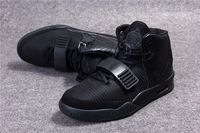 2014 Men's Air Yeezys Basketball Shoes Low Price Air Yeezy 2 Sport Footwear Authentic Kanye West Blackout Trainer Shoes For Sale