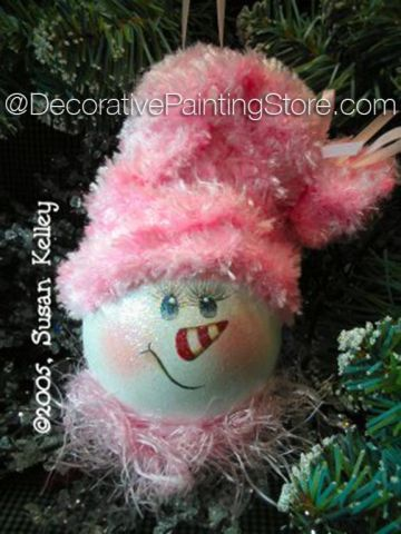 The Decorative Painting Store: Shabby Snowlady Lightbulb Ornament ePacket - Susan Kelley - PDF DOWNLOAD, All Pattern Packets
