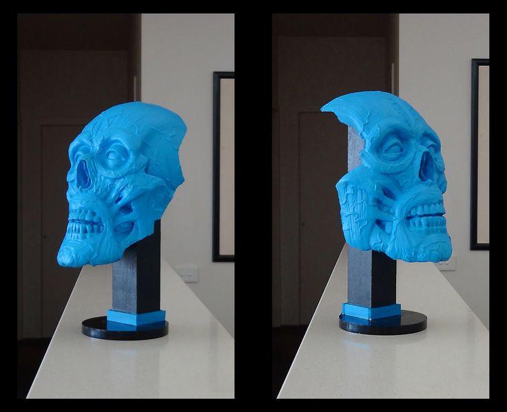 sculpture, anatomy head sculpture