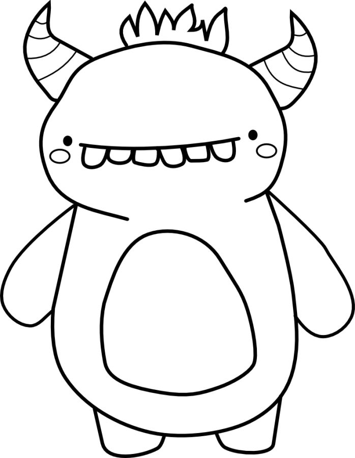 Cuties   Monster coloring pages, Coloring pages, Monster ...