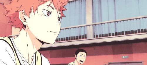Hinata getting hit by Asahi's spike // This happened to me at least once in volleyball practice...