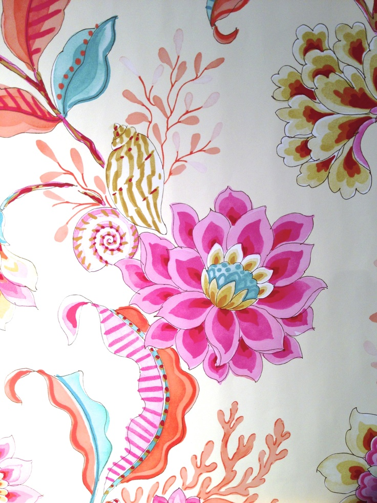 Diver's Paradise Detail /Mimosa/Laurette Design,Inc.