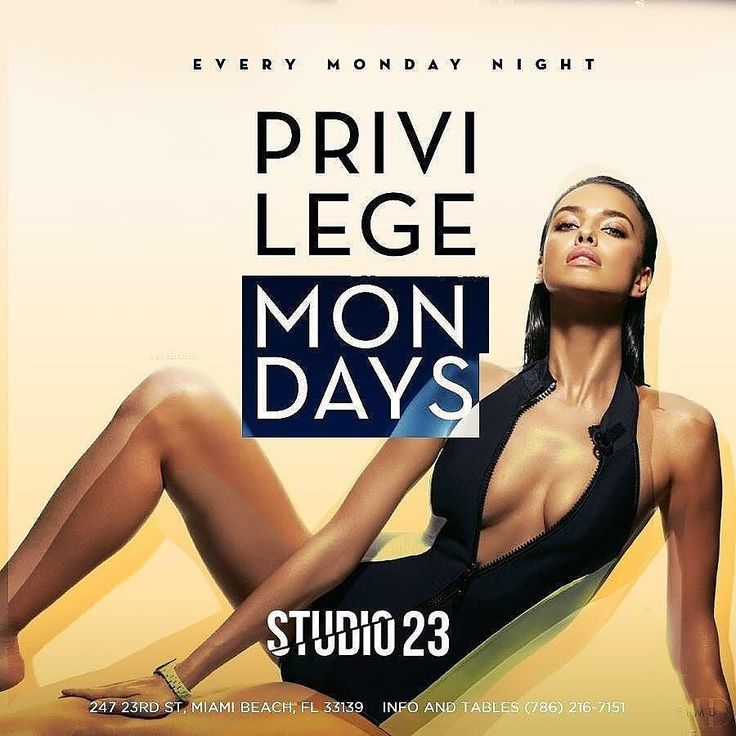 Its almost that time. #PrivilegeMondays  Each and Every #Monday Night @Studio23Miami  A Beautiful experience  Great staff with one of a kind service.  #Tomorrow Night is no exception.  As we host the Reigning #NBA #Champions; The @GoldenStateWarriors.  Along side #Hiphop 's  legendary East coast group #Dipset member / #Rapper @TheJuelzSantana  @LissaAires  many more #Celebrity guest to name.  #Ladies Join our Exclusive Guest List. Contact #US Via TXT 786-805-8887 or Email…