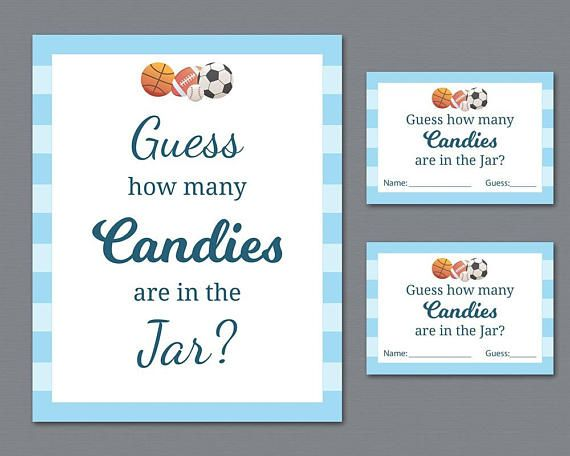 photograph relating to Guess How Many in the Jar Printable named Soccer Sweet Guessing Recreation, Boy or girl Shower Video games Printable
