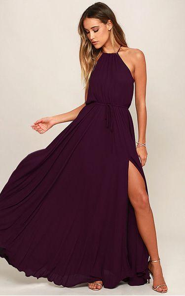 Essence of Style Plum Purple Maxi Dress