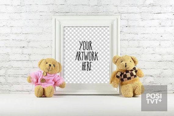 Poster Frame Photography Style / Frame Mockup / Poster Mockup/ Nursery Mockup / Kid Mockup / Baby Mockup / poster  mockup