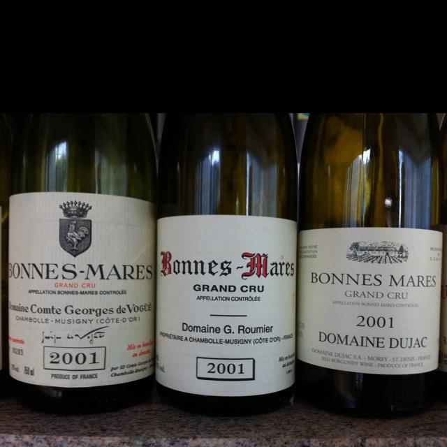 Bonne Mares 2001 by Roumier, Vogue and Dujac!