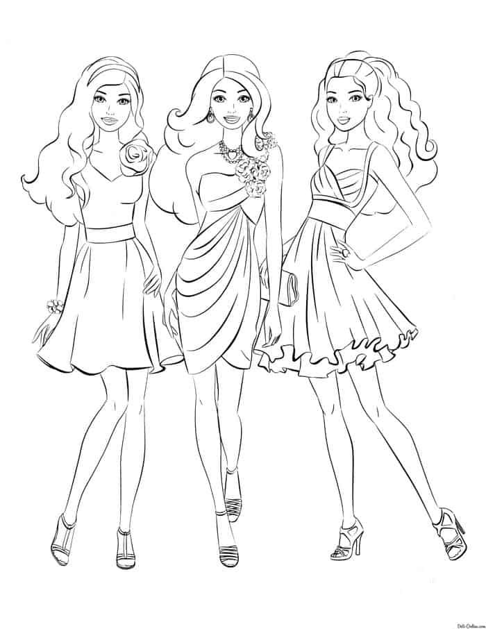 Free Printable Barbie Princess Charm School Coloring Pages ... | 906x700