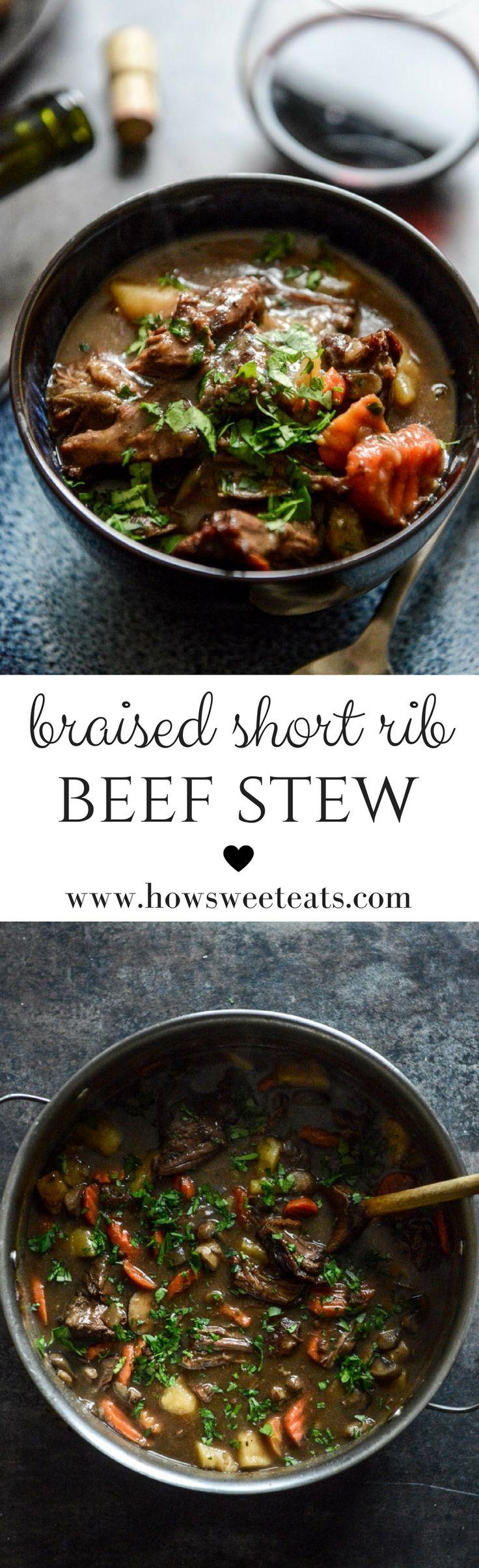 Braised Short Rib Beef Stew I howsweeteats.com @howsweeteats