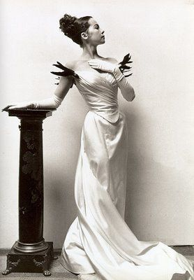 Leslie Caron, as photographed by Cecil Beaton in one of the couture creations for Gigi. Sigh