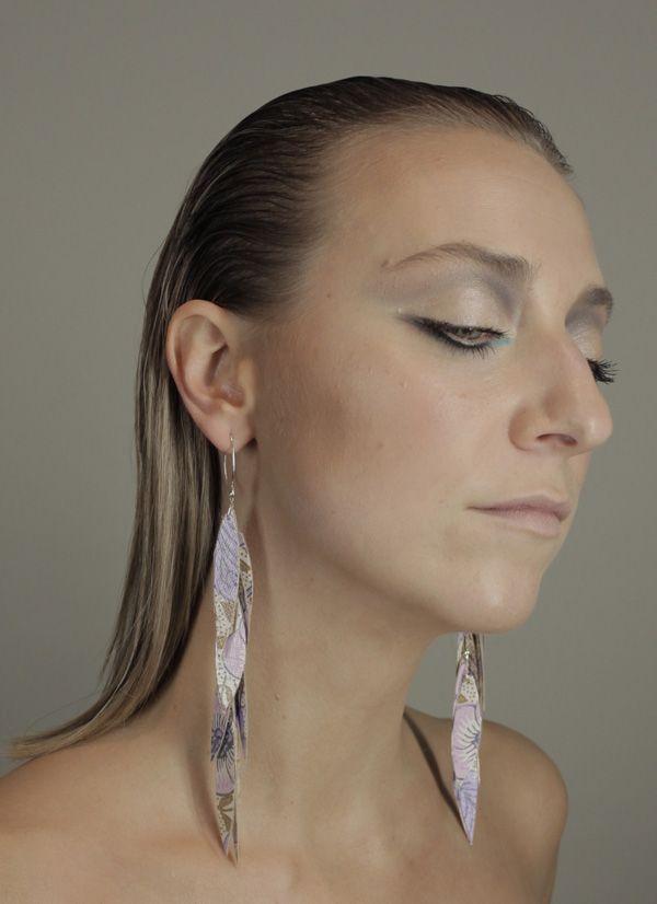 wallpaper earrings from Rio Branner www.riobranner.etsy.com