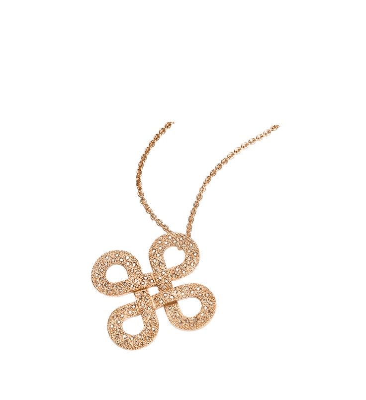 Mattioli CELTICA Collection  Rose gold pendant with brown diamonds  MCT81004A